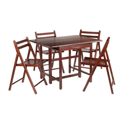 Winsome Taylor 5-Pc Set Drop Leaf Table with 4 Folding Chairs
