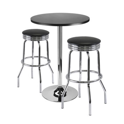 Winsome Summit 3-Pc Bar Table Set -  24 Table and2 Stools