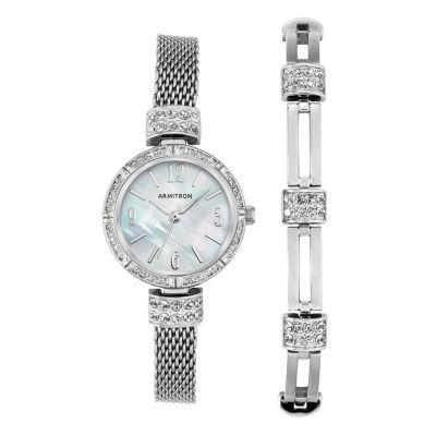 Armitron Armitron Womens Silver Tone Bracelet Watch-75/5548mpsvst