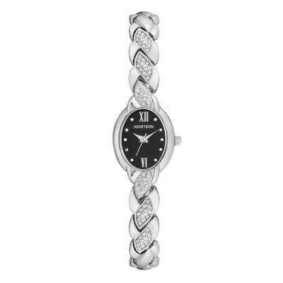 Armitron Armitron Womens Silver Tone Bracelet Watch-75/5576bksv