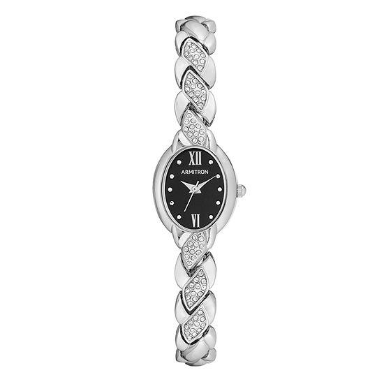 Armitron Womens Silver Tone Bracelet Watch-75/5576bksv