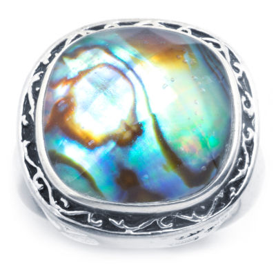 Sparkle Allure Sparkle Allure Womens Multi Color Pure Silver Over Brass Square Cocktail Ring