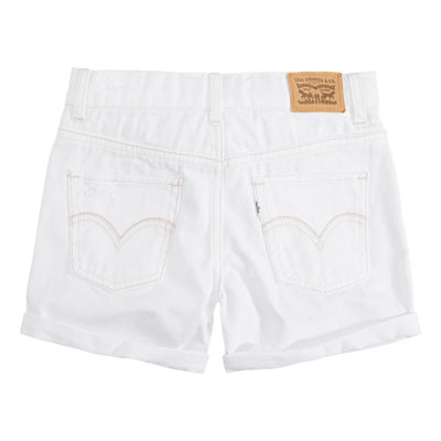 Levi's Girlfriend Button Fly Shorty Shorts - Big Kid Girls