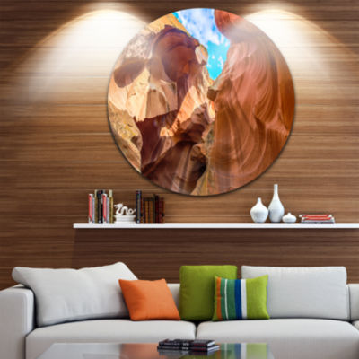 Designart Sky from Antelope Canyon Landscape PhotoCircle Metal Wall Art