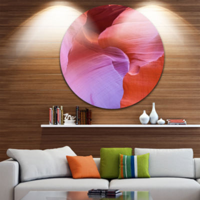 Designart Antelope Canyon Landscape Photography Circle Metal Wall Art