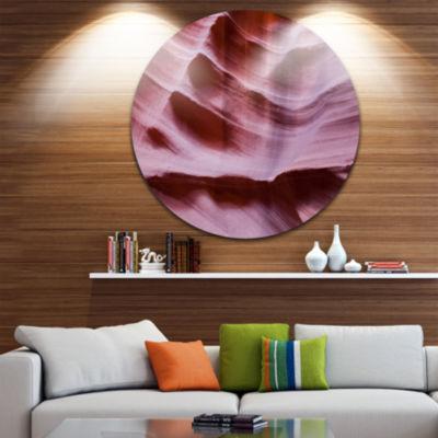 Designart Upper Antelope Canyon Details LandscapePhotography Circle Metal Wall Art