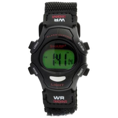 Sharp Unisex Black Strap Watch-Shpkd000