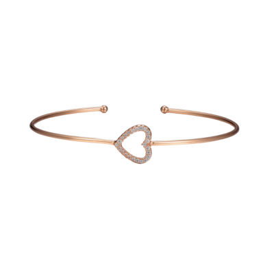 Footnotes Womens Clear Cuff Bracelet