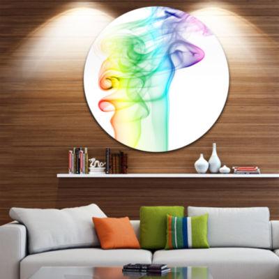 Designart Wave Light Art Abstract Circle Metal Wall Art