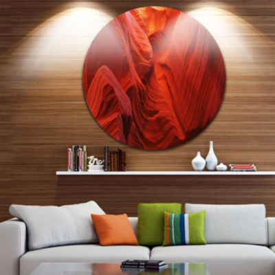 Designart Magic Colors of Antelope Canyon Landscape Photography Circle Metal Wall Art