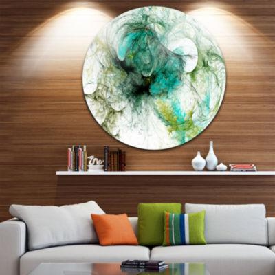 Designart Fractal Digital Paint Pattern Abstract Circle Metal Wall Art