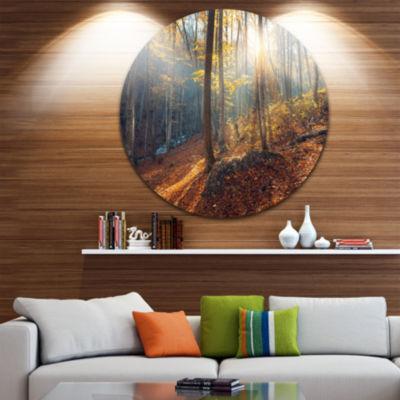 Designart Crimean Mountains at Sunset Landscape Photography Circle Metal Wall Art