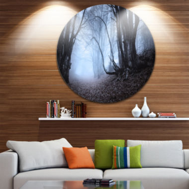 Designart Natural Landscape in Autumn Landscape Photography Circle Metal Wall Art