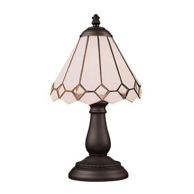 Mix-N-Match 1-Light Table Lamp In Tiffany Bronze, Diamond