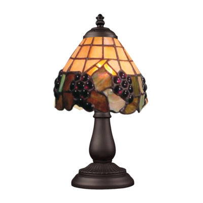 Mix-N-Match 1-Light Table Lamp In Tiffany Bronze, Grapevine