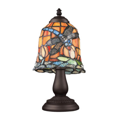 Mix-N-Match 1-Light Table Lamp In Tiffany Bronze, Dragonfly
