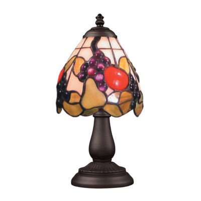 Mix-N-Match 1-Light Table Lamp In Tiffany Bronze, Fruit Basket