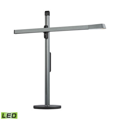Bilico 1-Light LED Table Lamp In Anodized Blue-Grey
