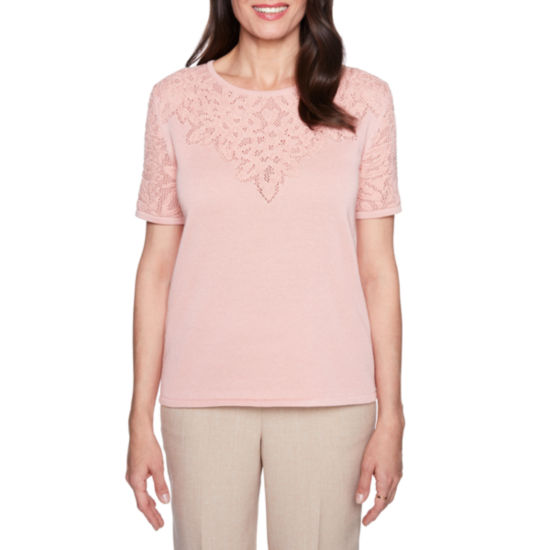 Alfred Dunner La Dolce Vita Pointelle Sweater