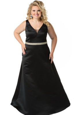 Celebrations By Sydney's Closet Embellished Ball Gown-Juniors Plus
