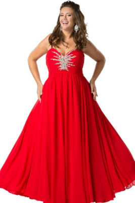 Sydney's Closet Evening Gown-Juniors Plus