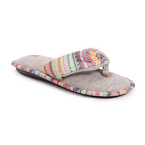 Muk Luks Dawna Womens Slip-On Slippers