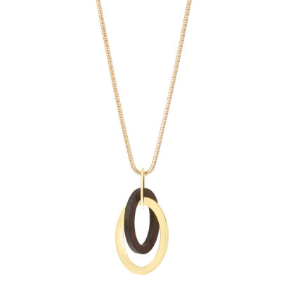 Worthington 32 Inch Snake Pendant Necklace