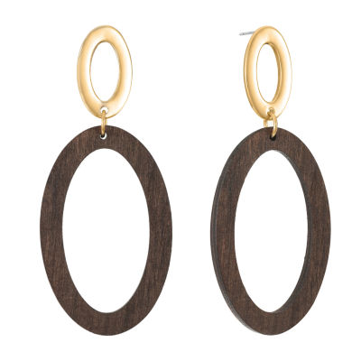 Worthington Wood Drop Earrings