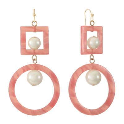 Worthington Simulated Pearl Drop Earrings