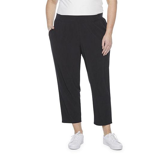 Stylus-Plus Womens Mid Rise Straight Pull-On Pants