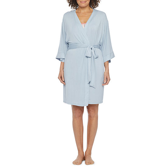 Ambrielle Womens Kimono Robes 3/4 Sleeve Short Length