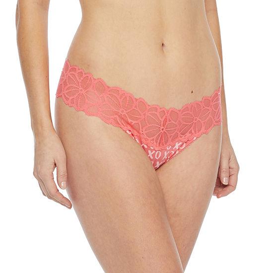 Flirtitude Cotton Lace Thong Panty