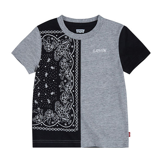 Levi's Big Boys Crew Neck Short Sleeve Graphic T-Shirt