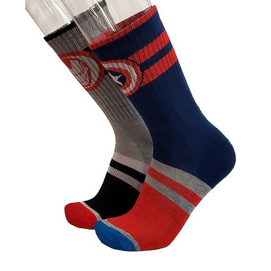 Marvel Mens 2 Pair Crew Socks
