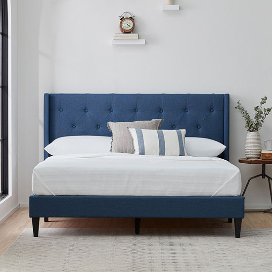 The Dream Collection by Lucid® Upholstered Wing Back Bed