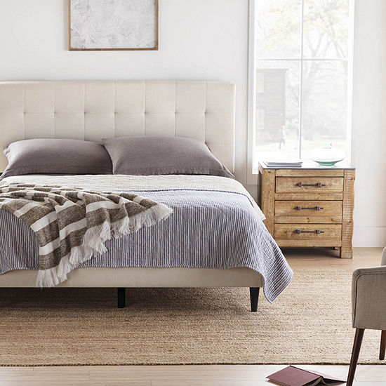 The Dream Collection by Lucid® Upholstered Square Tufted Platform Bed