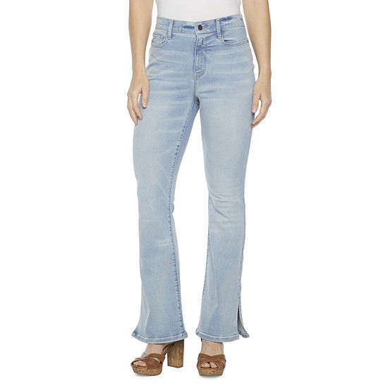 a.n.a Womens High Rise Split Hem Flare Jean
