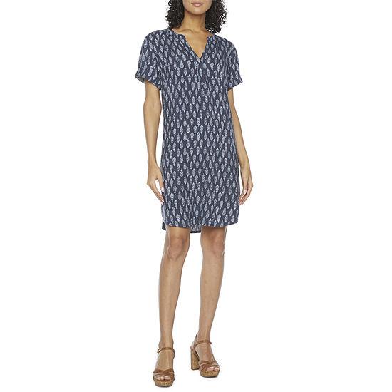 a.n.a Short Sleeve Shift Dress