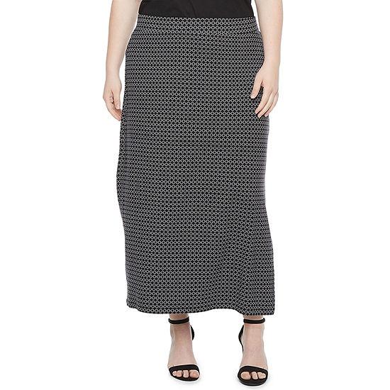 Liz Claiborne Womens Maxi Skirt - Plus