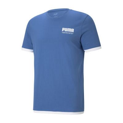 Puma Mens Crew Neck Short Sleeve Graphic T-Shirt
