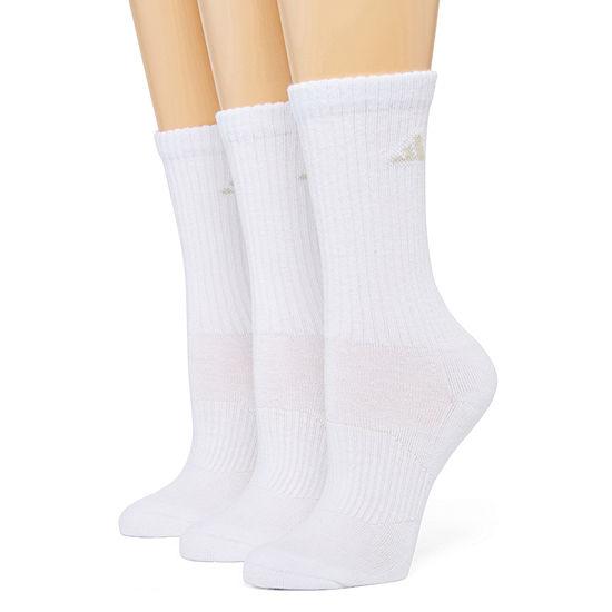 adidas® 3-pk. ClimaLite Cushioned Crew Socks