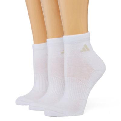 adidas® 3-pk. Cushion Quarter Socks