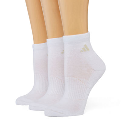 adidas® 3-pk. Cushion Quarter Socks