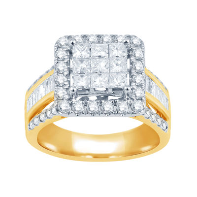 2 CT. T.W. Diamond 10K Yellow Gold Engagement Ring