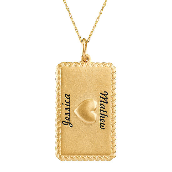 pendant love rectangular image chinese i symbol necklace you gold