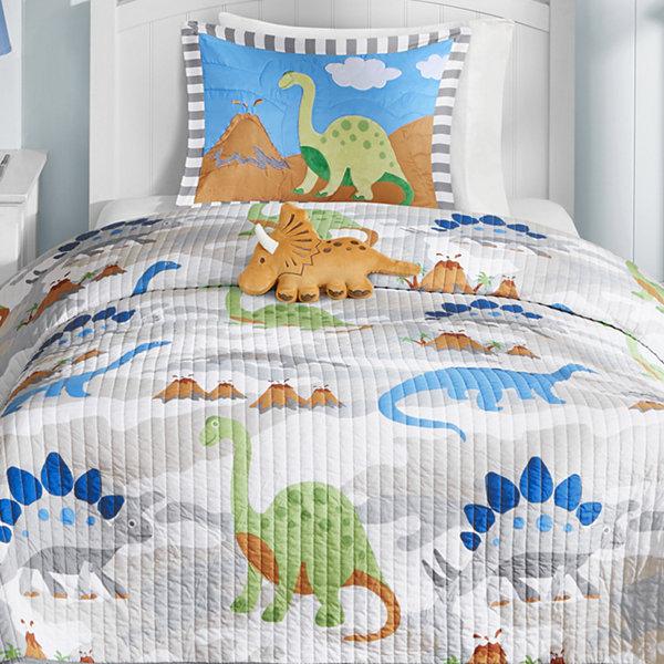 Mi Zone Kids Sharp Tooth Dinosaur Quilt Set