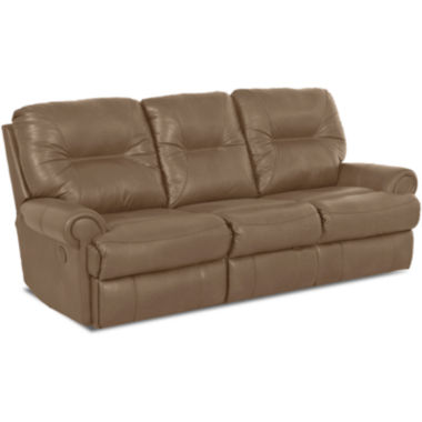 Brinkley Faux-Leather Reclining Motion Loveseat