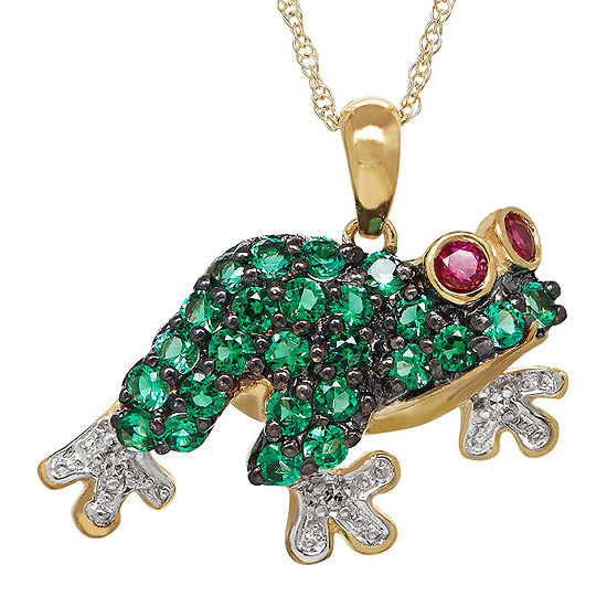 frog gem necklace online christies pendant eco multi s co jewels christie tiffany