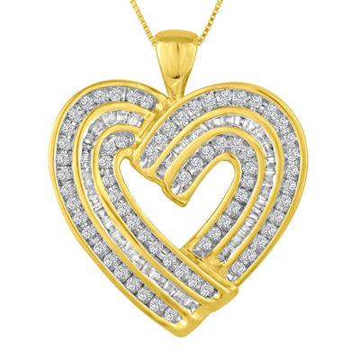 3/4 CT. T.W. Diamond Heart Pendant Necklace