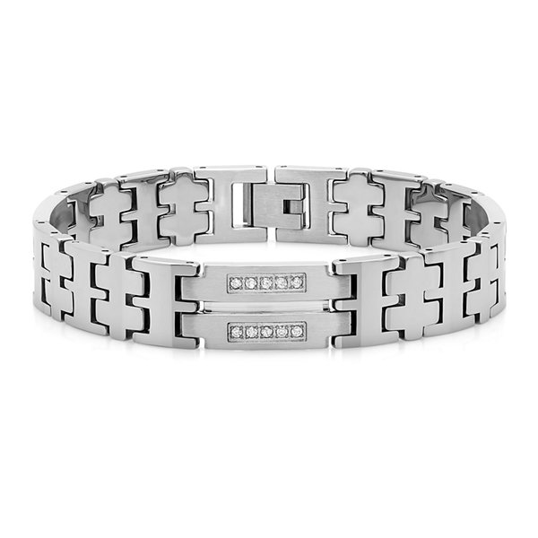 Mens 1/2 CT. T.W. Diamond Tungsten Bracelet